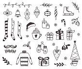 istock Christmas doodles 1166188738
