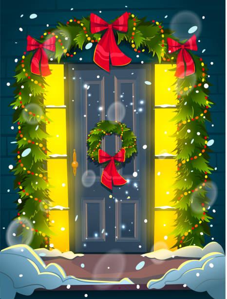 Royalty Free Front Door Snow Clip Art, Vector Images ...