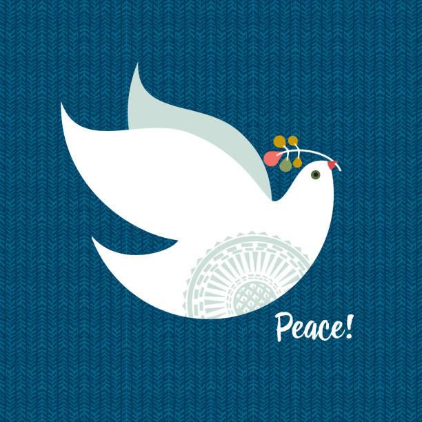 Christmas Dove vector art illustration