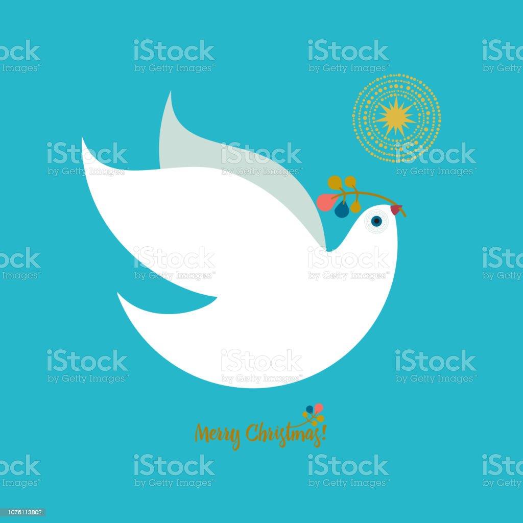 Christmas Dove - Royalty-free Bird stock vector