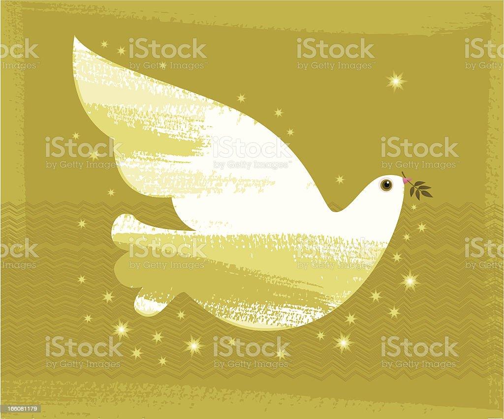 Christmas Dove - Royalty-free Animal stock vector