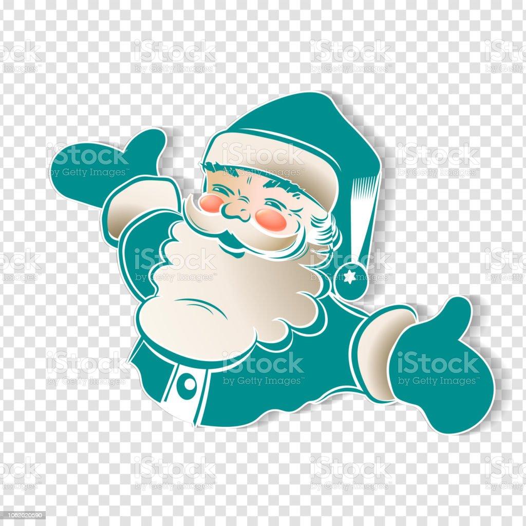 Noël Dessin Du Père Noël Avec Bras Répartis En Couleur