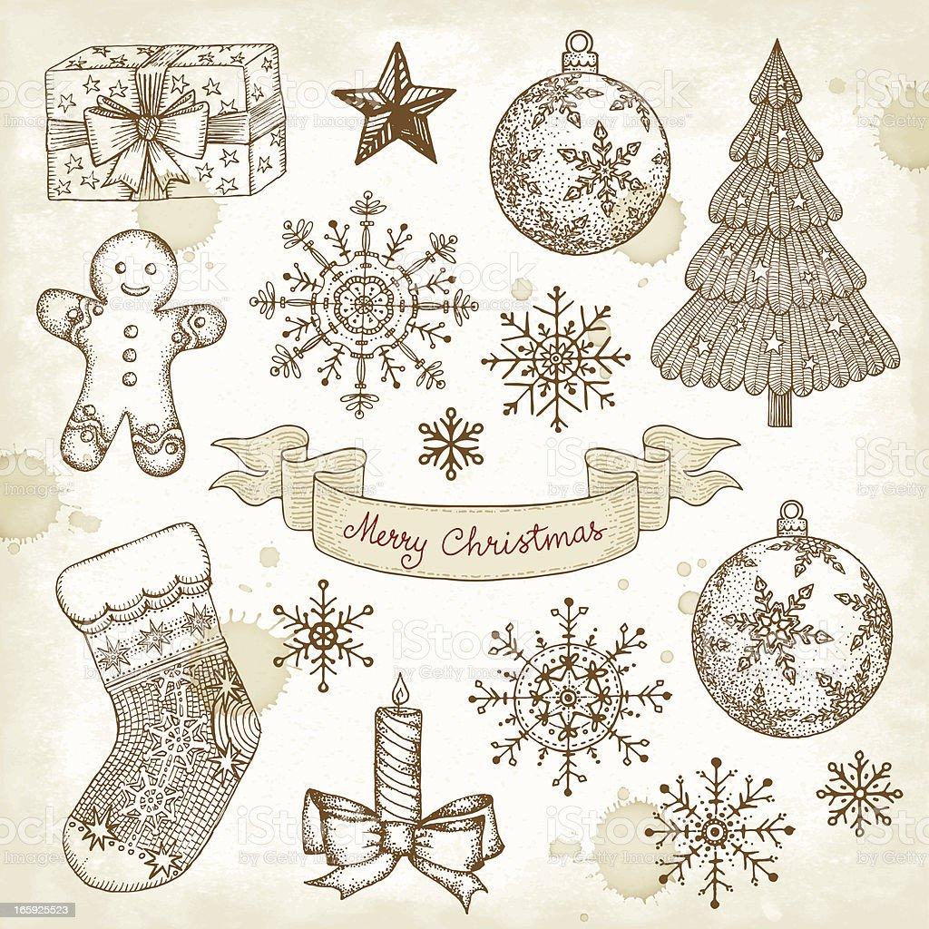 Christmas Drawings.Christmas Drawings Stock Illustration Download Image Now