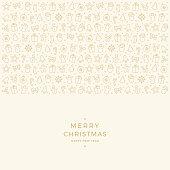 christmas element icons border gold background