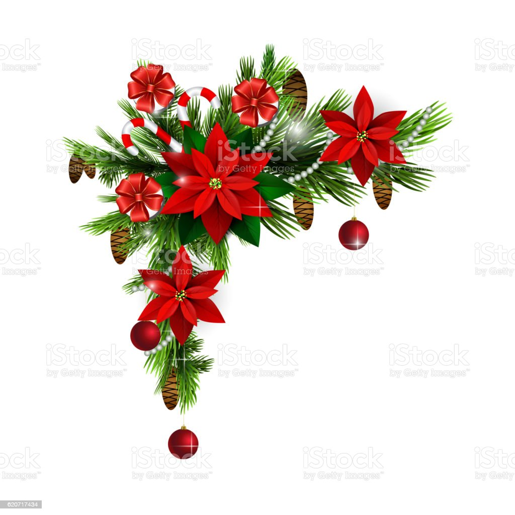 Christmas Tree Decoration Elements: Christmas Elements For Your Designs Stock Vector Art