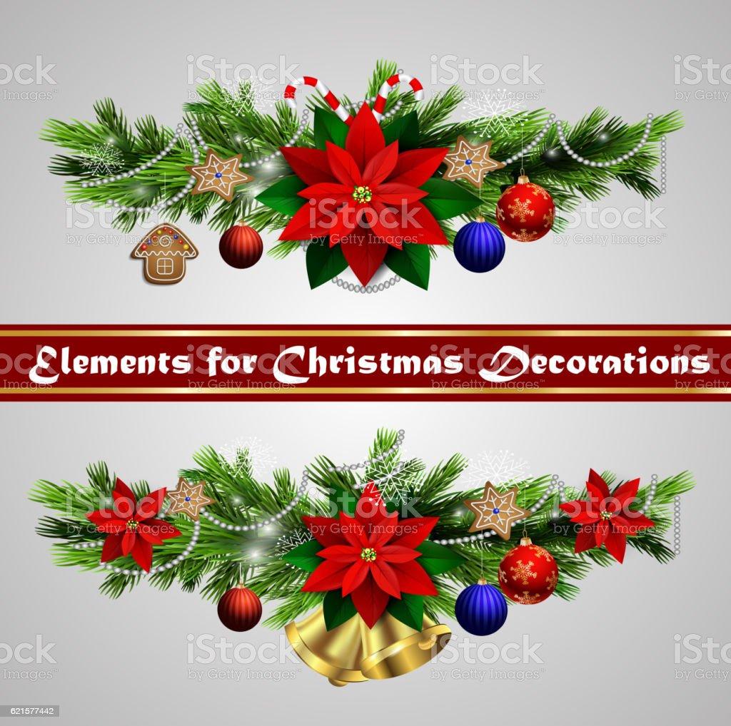 Éléments pour vos créations de Noël Éléments pour vos créations de noël – cliparts vectoriels et plus d'images de arbre libre de droits