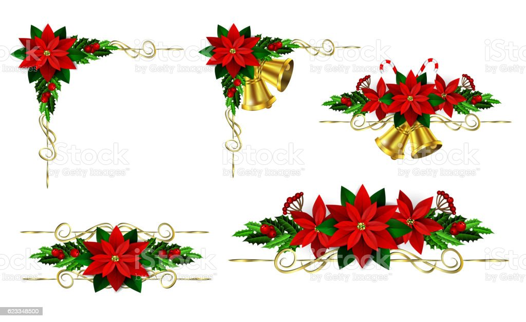 Christmas elements for your designs vector art illustration