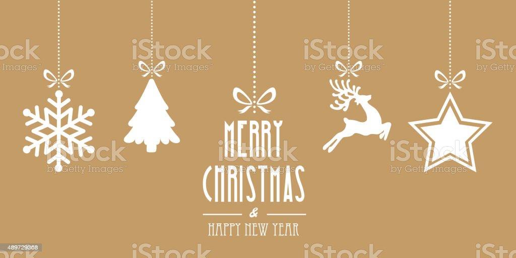 Sfondi Natalizi Oro.Elementi Di Natale Oro Sfondo Appendere Immagini Vettoriali Stock