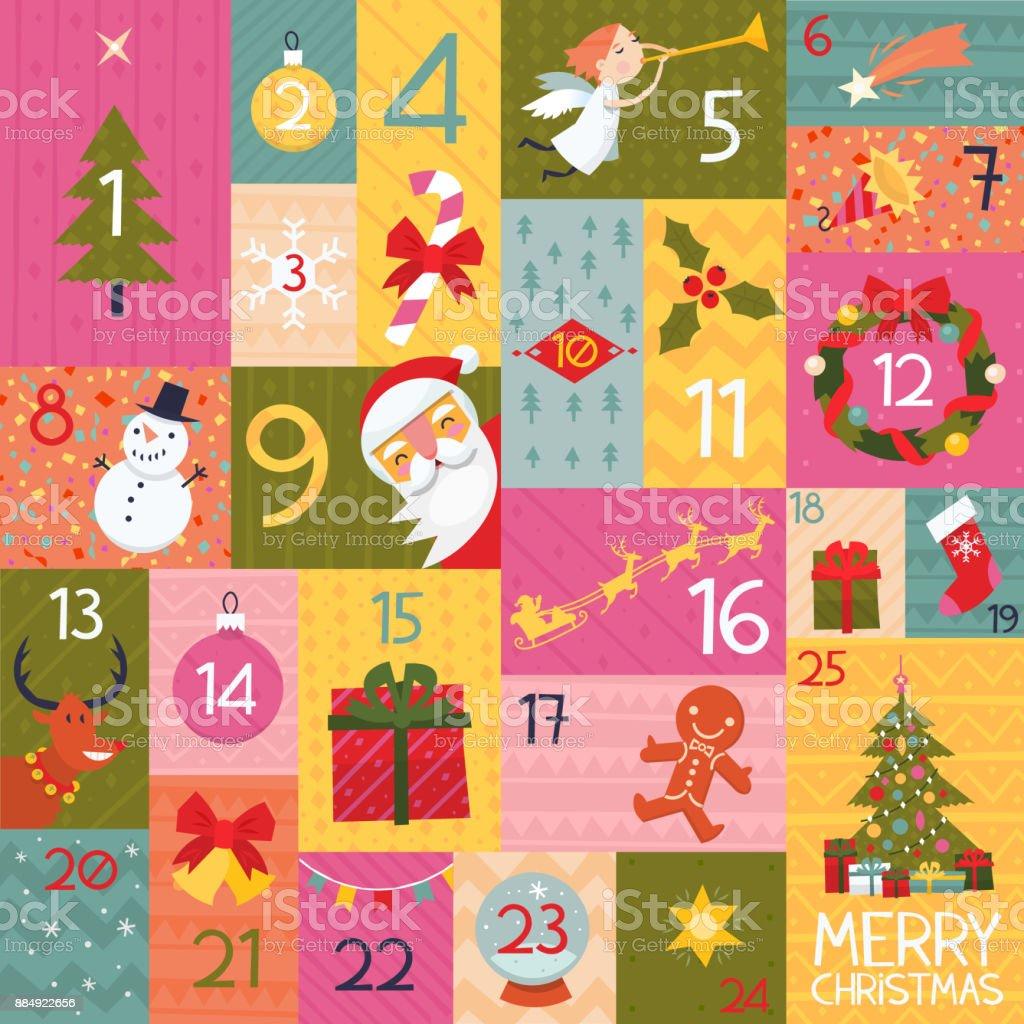 Christmas elements illustrations vector art illustration