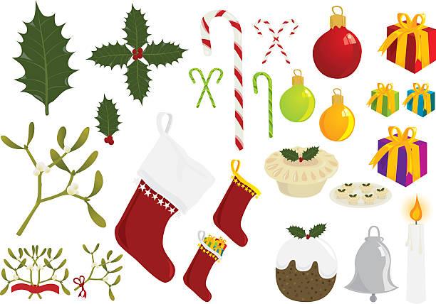 Weihnachten-Elemente – Vektorgrafik