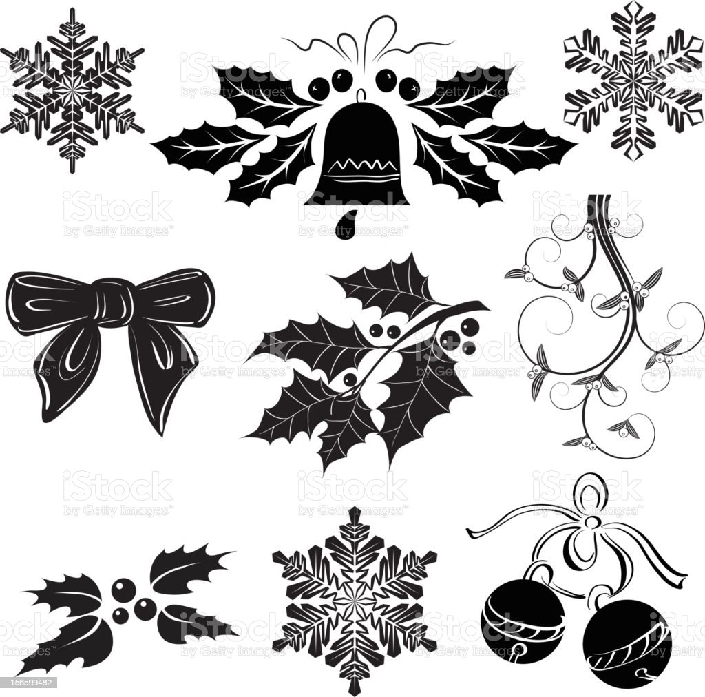 Christmas elements royalty-free christmas elements stock vector art & more images of bell