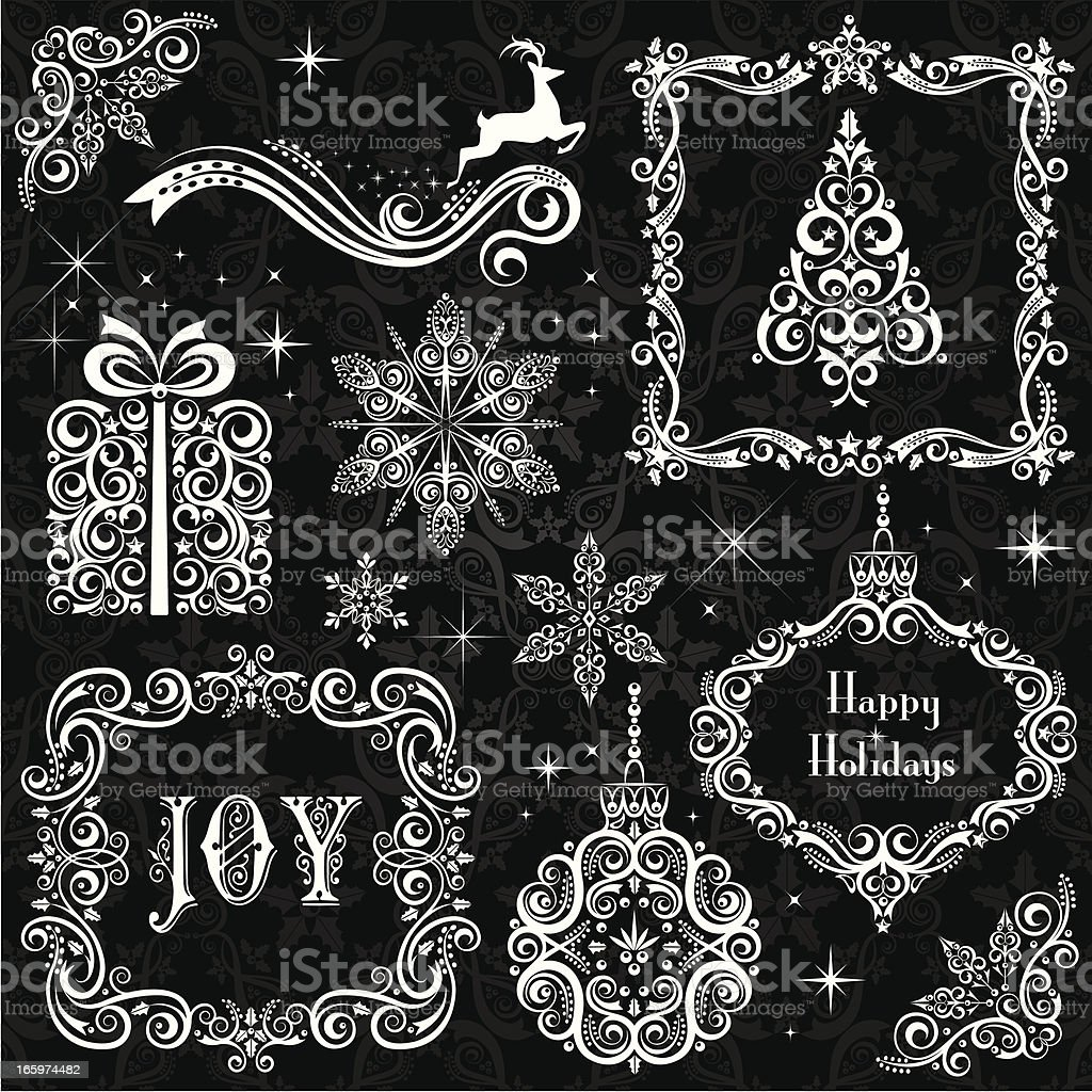 Christmas Elements royalty-free stock vector art