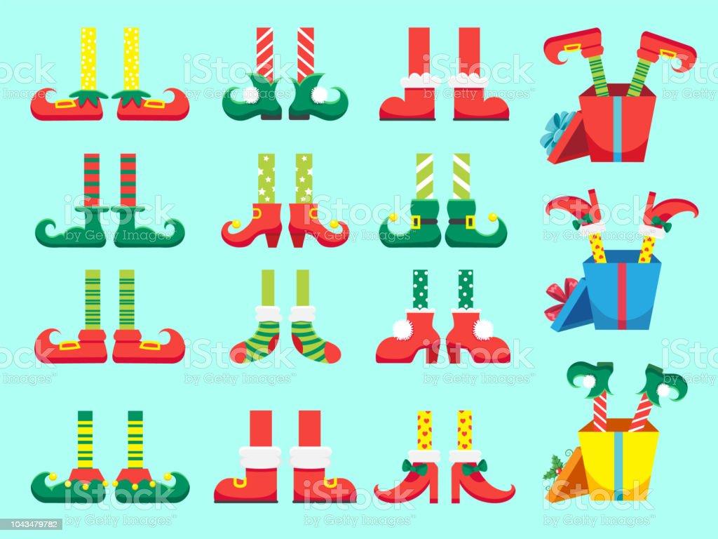 Christmas Elf Füße Schuhe Für Elfen Fuß Zwerg Weihnachtsmann Helfer ...