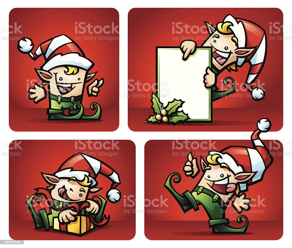Christmas Elf Set royalty-free christmas elf set stock vector art & more images of art