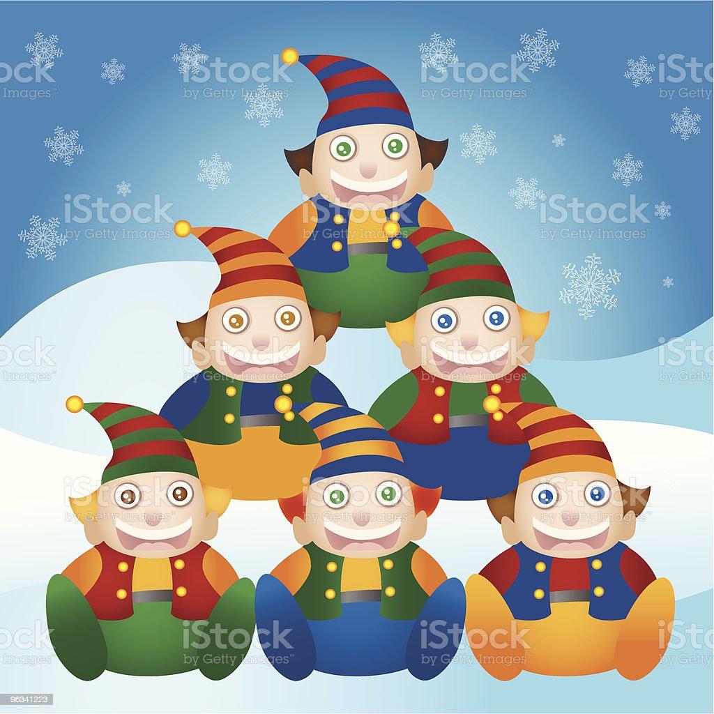 Arbre de Noël Elf - clipart vectoriel de Arbre libre de droits