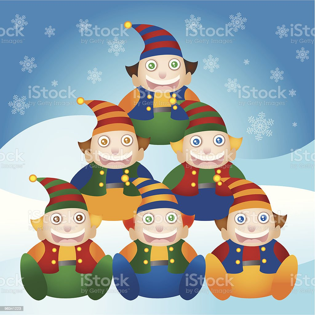 Christmas Elf Tree royalty-free christmas elf tree stock vector art & more images of cap