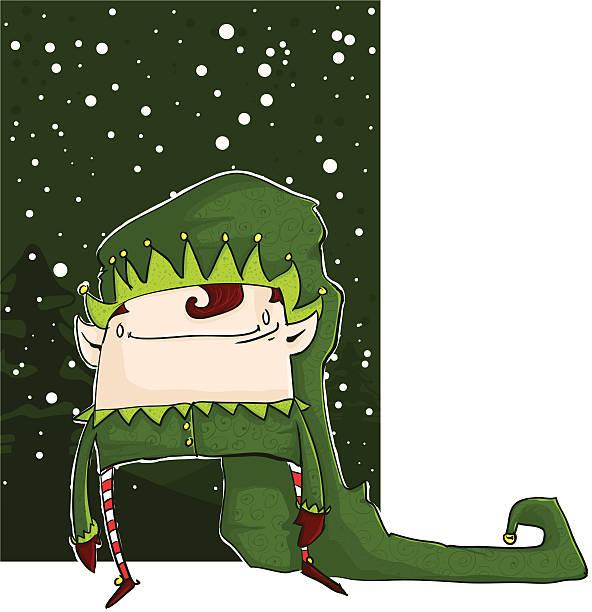 Christmas Elf vector art illustration
