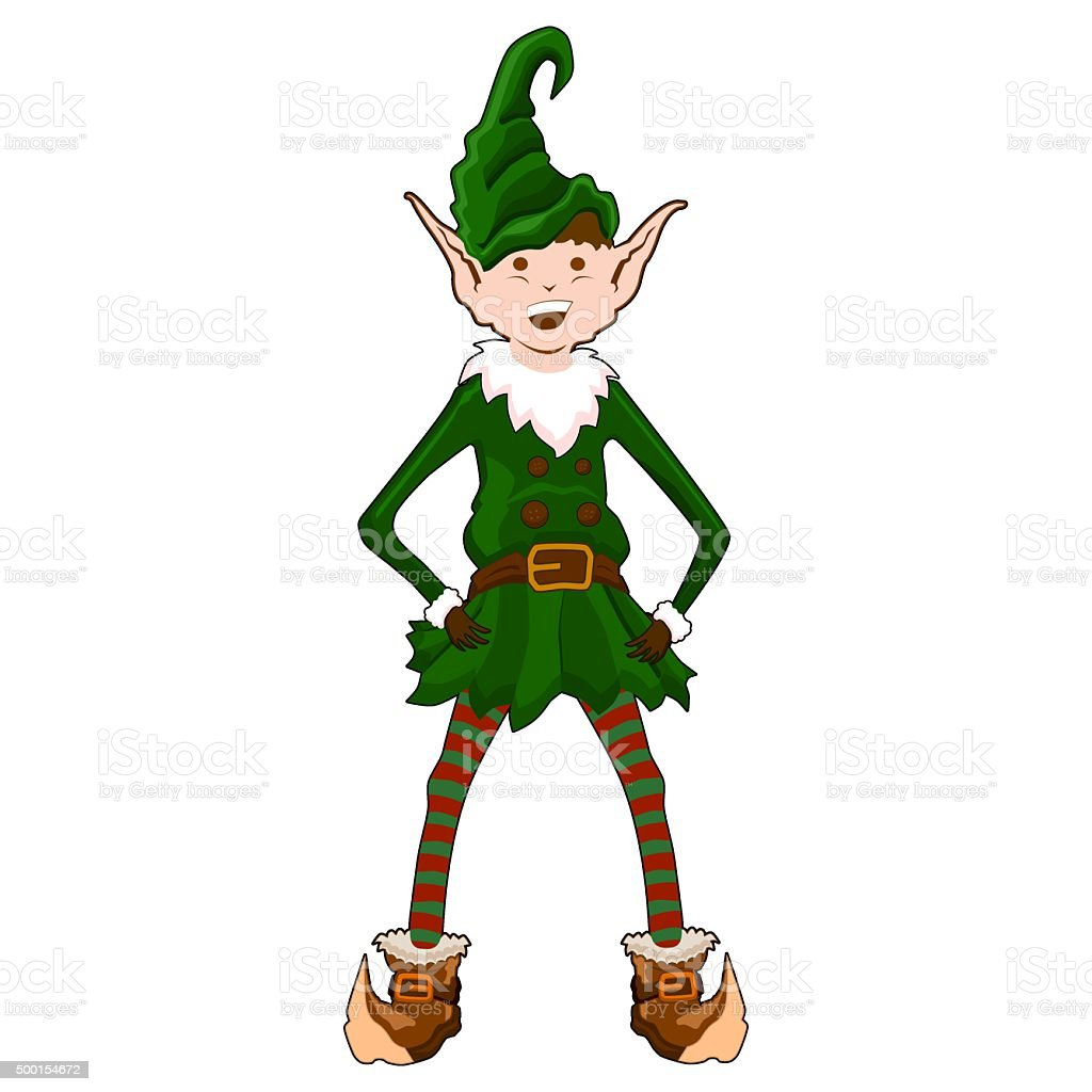 Christmas Elf vector art illustration