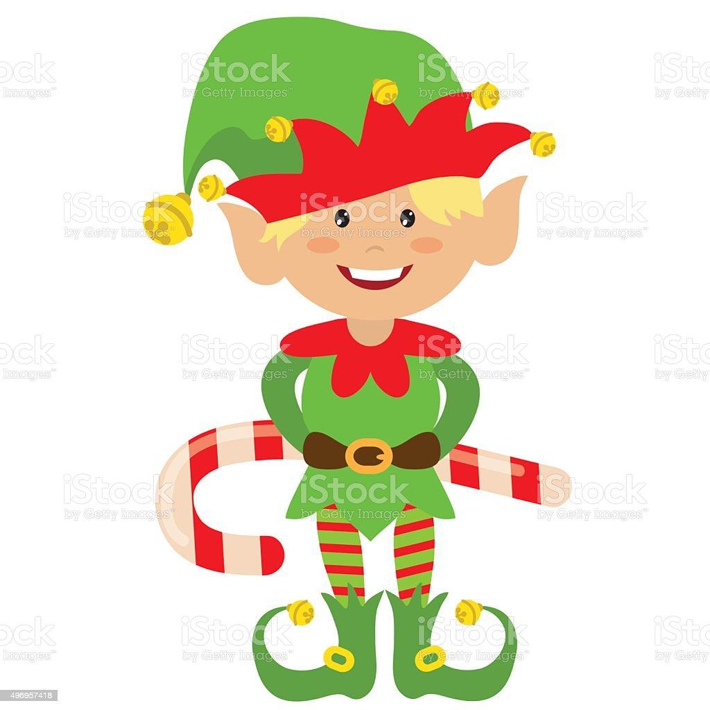 christmas elf vector illustration stock vector art 496957418 istock
