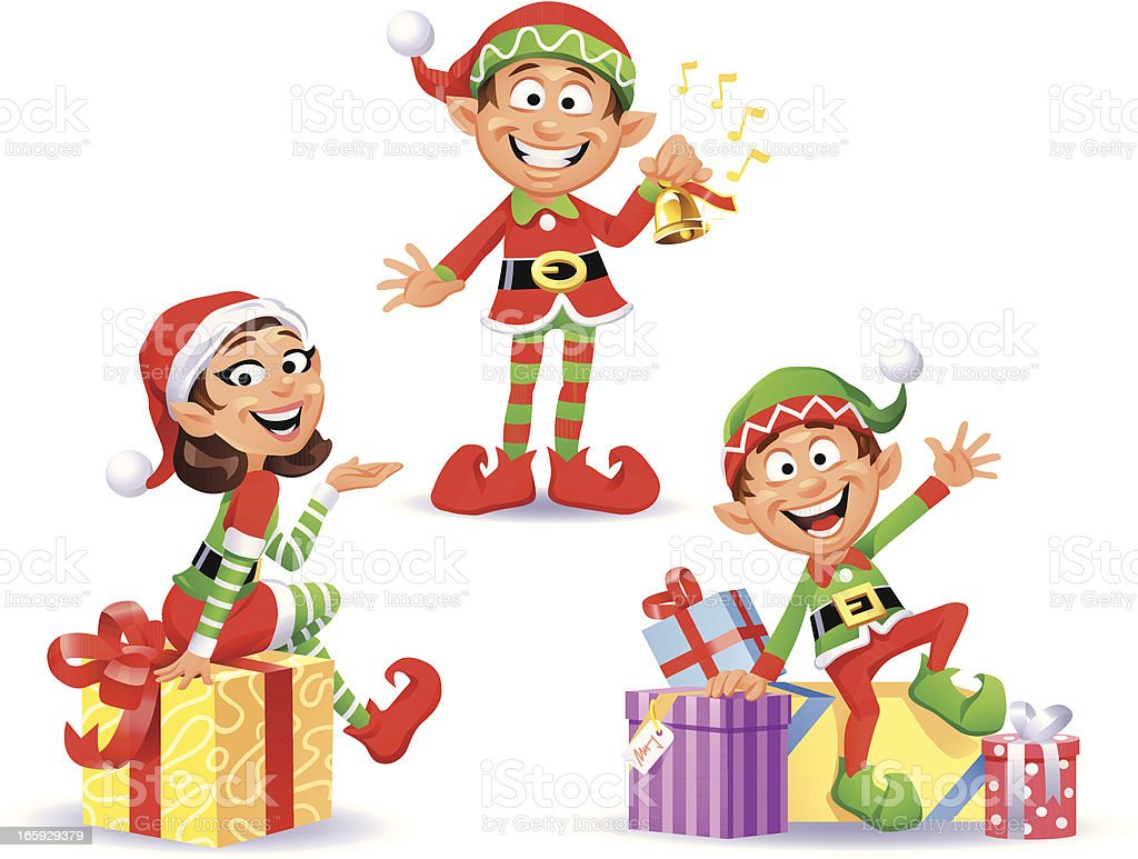 Christmas Elves 2 Stock Vector Art & More Images of Bell 165929379 ...