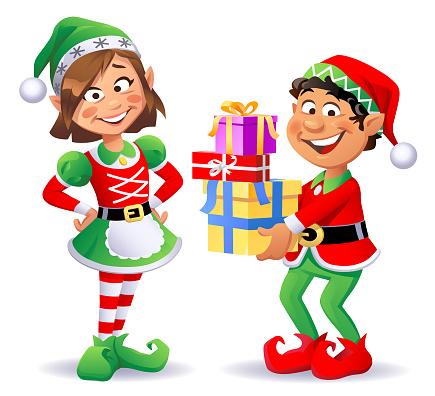 Christmas Elves Boy And Girl