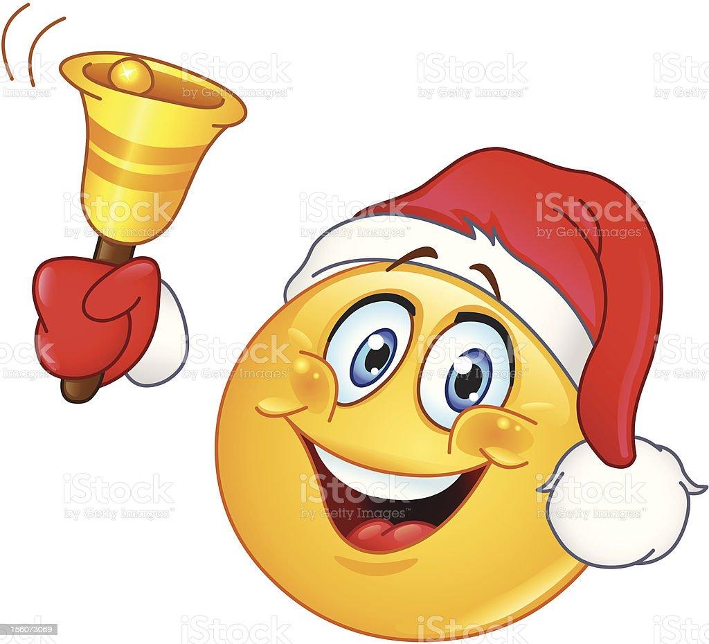 Christmas Emotikon Z Bell - Stockowe grafiki wektorowe i więcej obrazów  Antropomorficzna buźka - iStock