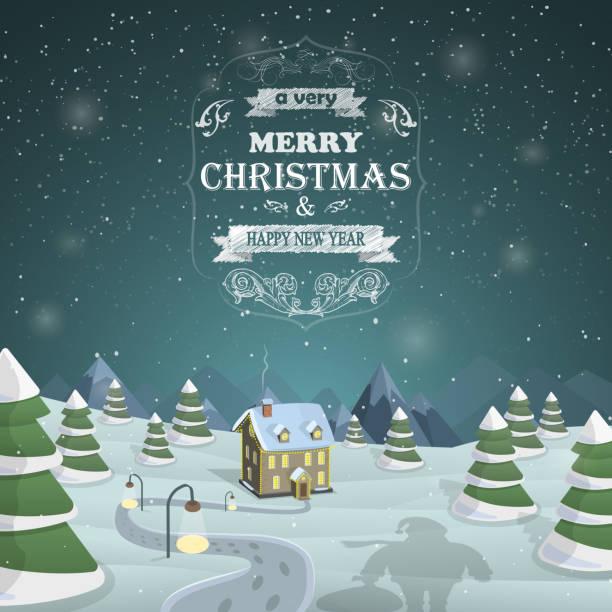 weihnachten hintergrund, vektor-illustration. - neues zuhause stock-grafiken, -clipart, -cartoons und -symbole