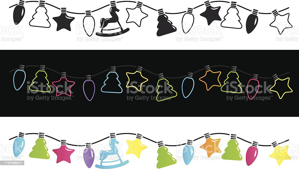 Christmas Fairy Lights Illustration.Christmas Fairy Lights Stock Vector Art More Images Of