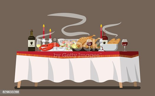 3 698 Dining Table Illustrations Royalty Free Vector Graphics Clip Art Istock