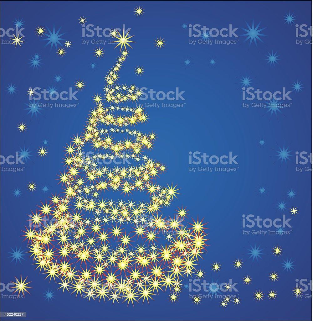 Christmas fancy tree royalty-free stock vector art