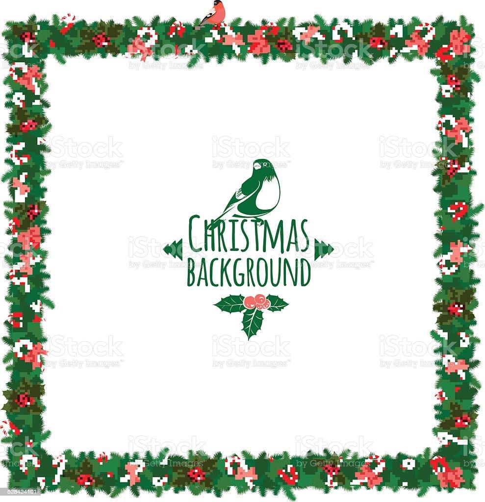 christmas festive candy wreath frame royalty free stock vector art - Wreath Frame