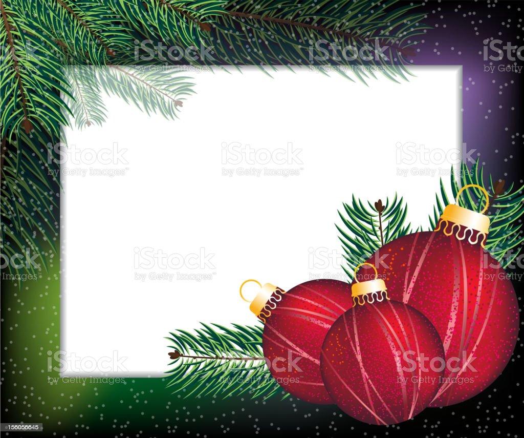 Christmas  festive frame royalty-free stock vector art