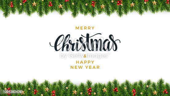 istock Christmas fir background, realistic look, holiday design 1094380426