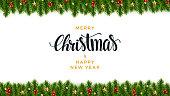 クリスマスのモミの背景、現実的な外観、休日のデザイン