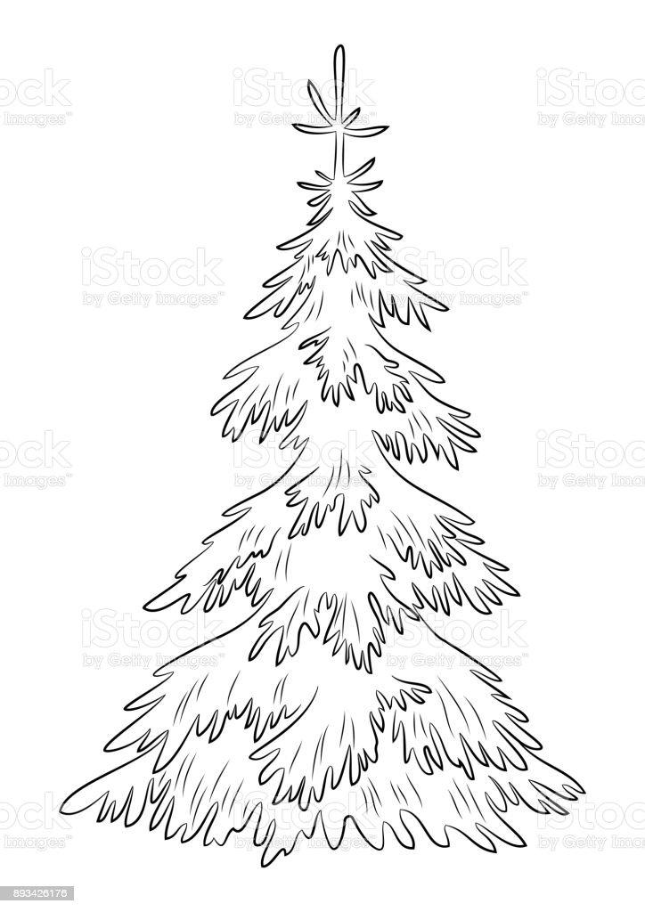 christmas fir tree contours stock vector art more images of black  christmas fir tree contours royalty free christmas fir tree contours stock vector art