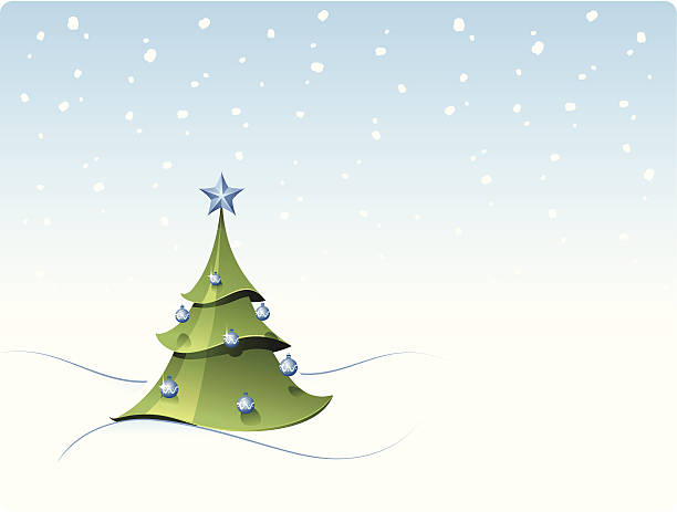 Christmas Fir Tree vector art illustration