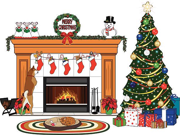 Best Christmas Tree Mat Illustrations, Royalty-Free Vector ...