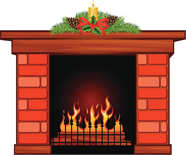 Best Fireplace Mantel Illustrations, Royalty-Free Vector ...