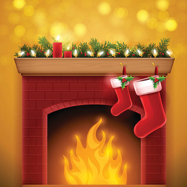 Royalty Free Fireplace Clip Art, Vector Images ...