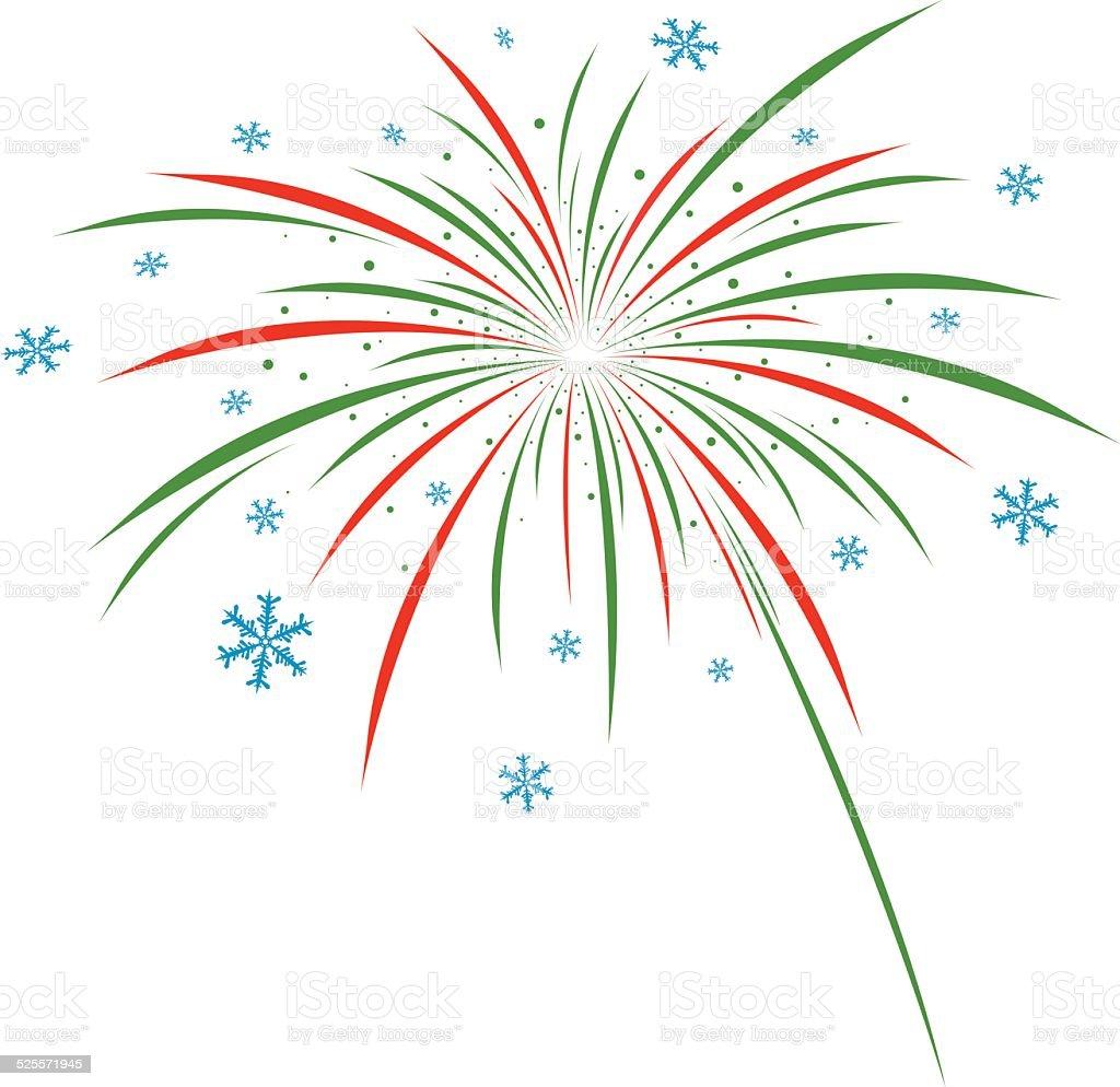 fuego artificial de dise o de navidad sobre fondo blanco