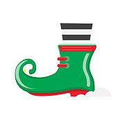 istock Christmas Flat Design Icon Elf shoe 1319502731