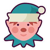 istock Christmas Flat Design Icon: Santa Elf 1284809378