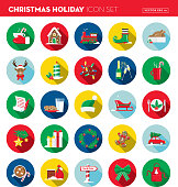 Vector illustration of a Christmas Flat Design Icon set