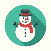 istock Christmas Flat Design Icon: Snowman 829837494