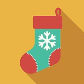 A flat design style Christmas icon. File is cleanly built and easy to edit.