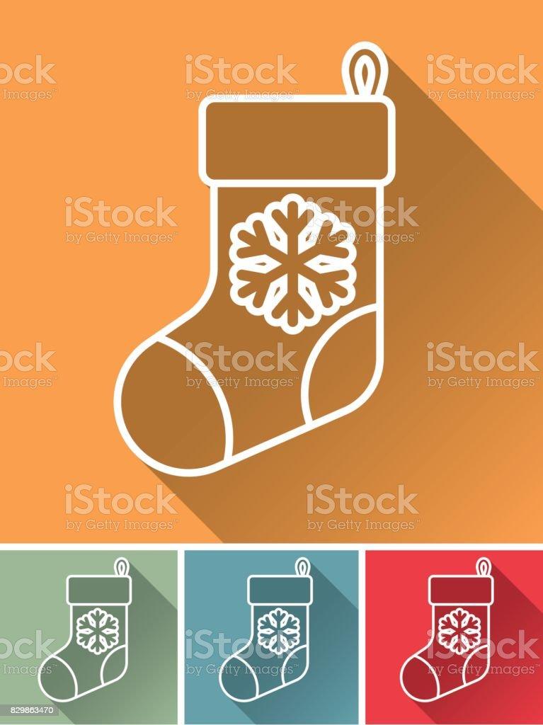 Ilustración de Navidad Diseño Plano Icono Siembra y más banco de ...