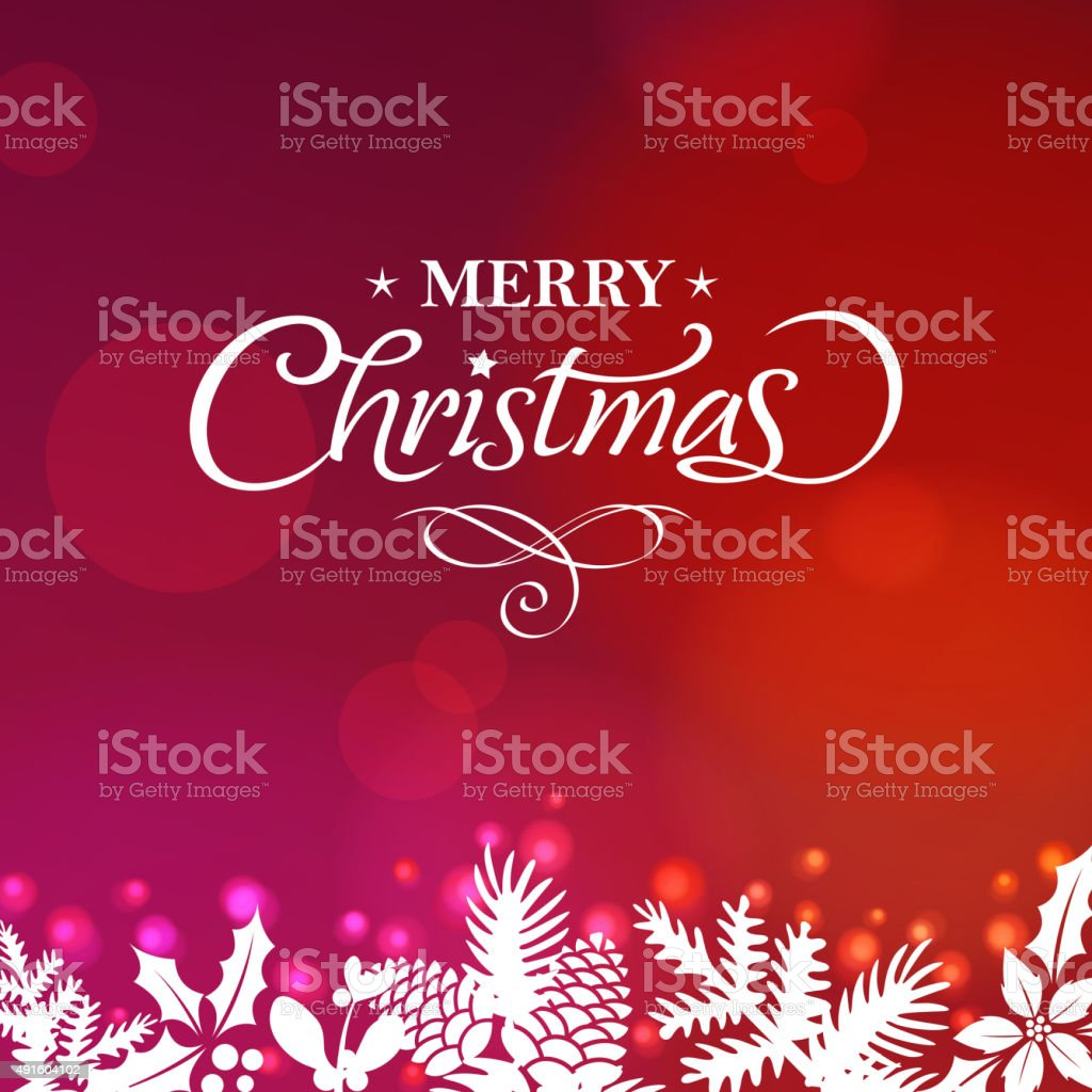 Christmas floral background vector art illustration