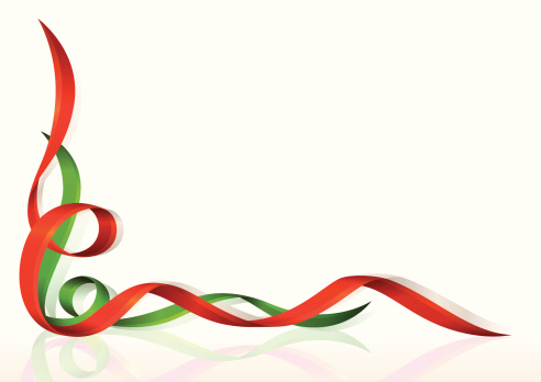 Christmas flowing ribbons