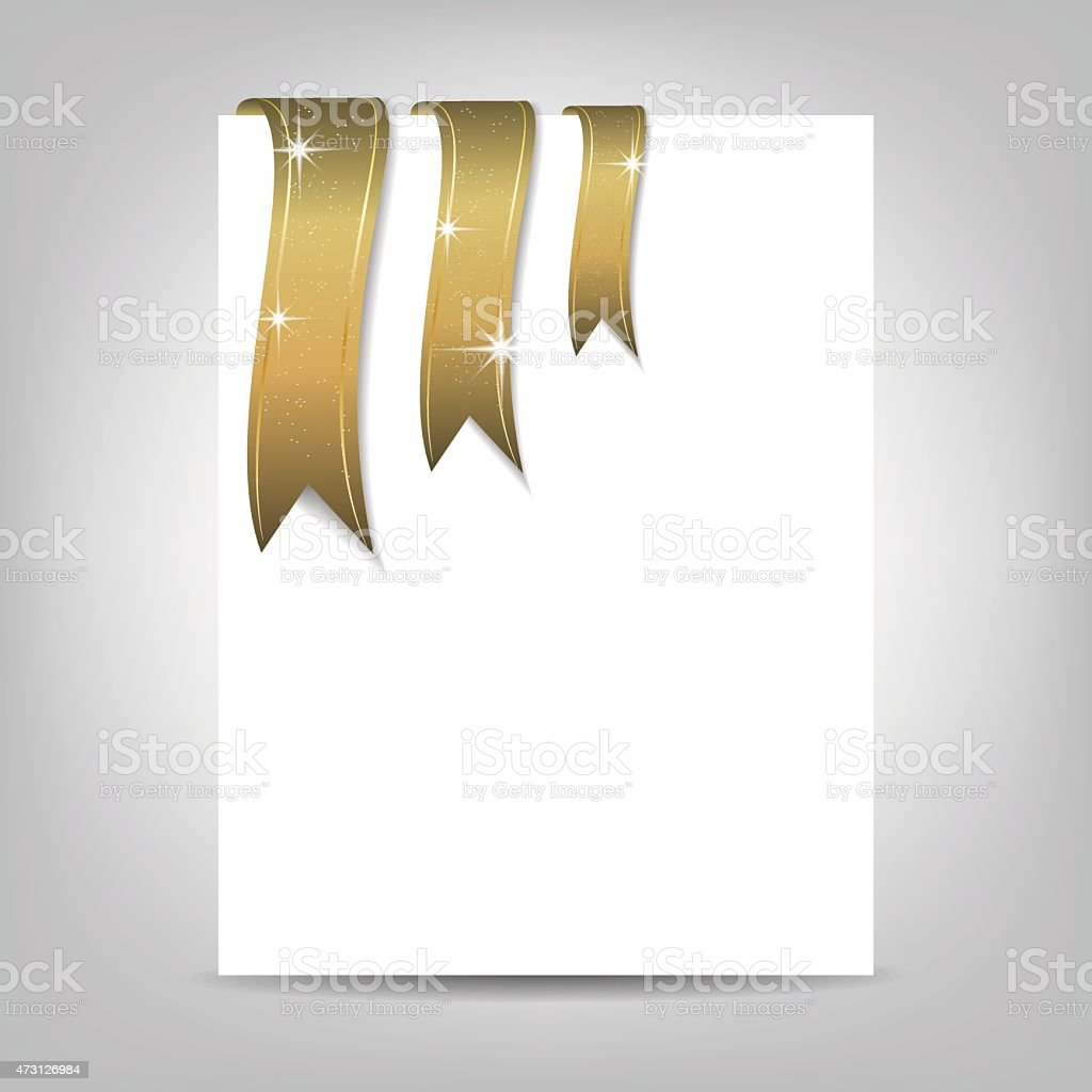 Christmas Flyer Template Paper Banner With Ribbon Royalty Free