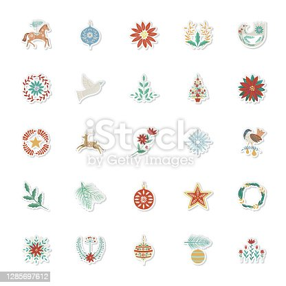 Detailed folk-art style holiday art ornament. File was created in CMYK in flat colors. Comes with a large high resolution jpeg.